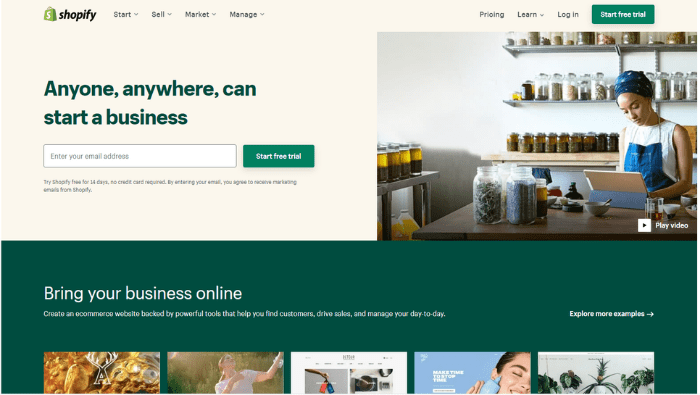 SaaS alternative to IaaS - Shopify