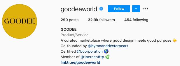 best Instagram bios - goodee instagram page bio