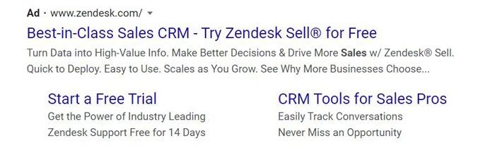 evergreen PPC ads - zendesk sell