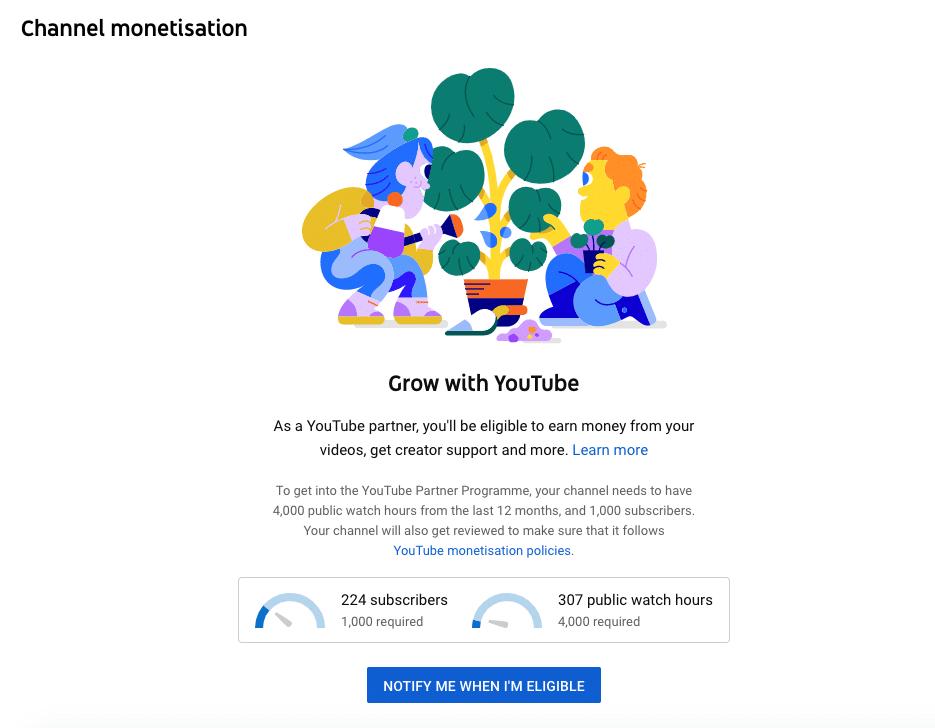 channel monetization YouTube partner program