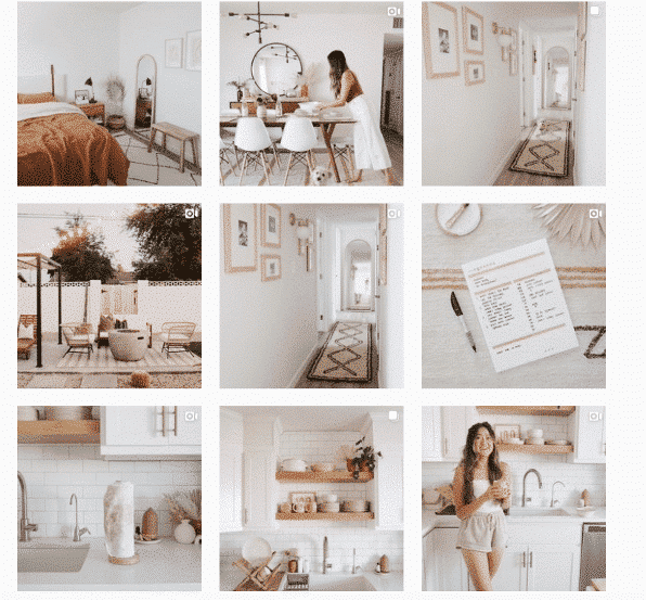 Instagram grid layout from @the.orange.home