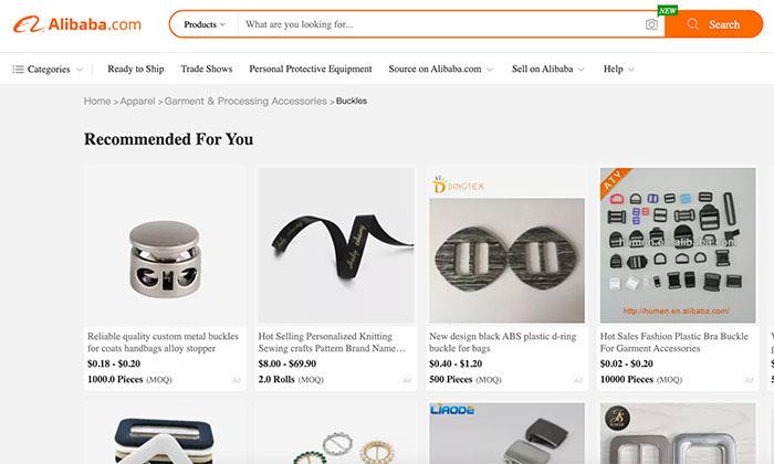 MOQ - example from Alibaba