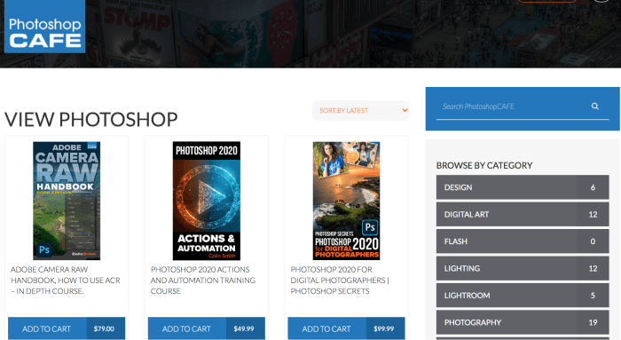 Online Photoshop Classes - Photoshop Cafe