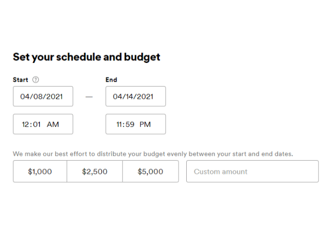 setting your spotify ads schedule and budget