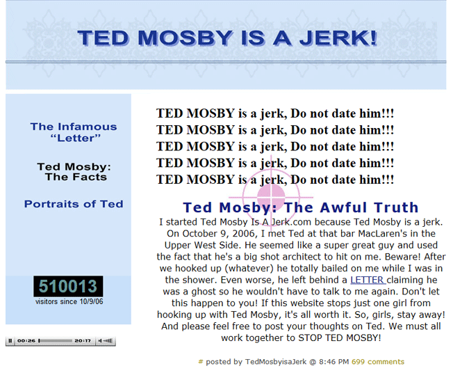 ted mosby is a jerk online reputation management
