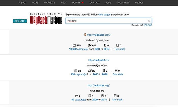 Wayback Machine's Desktop Web Cache Viewer