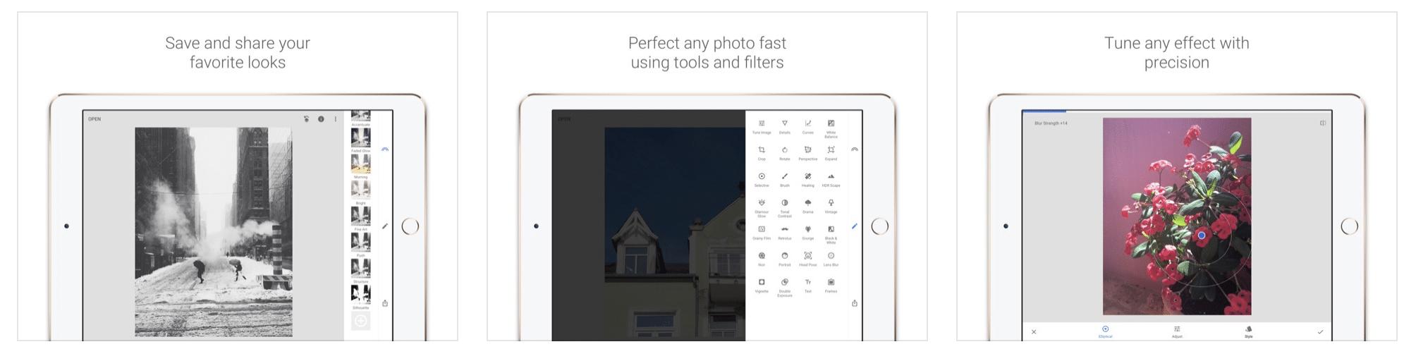 Snapseed JPG and RAW files photo editing app