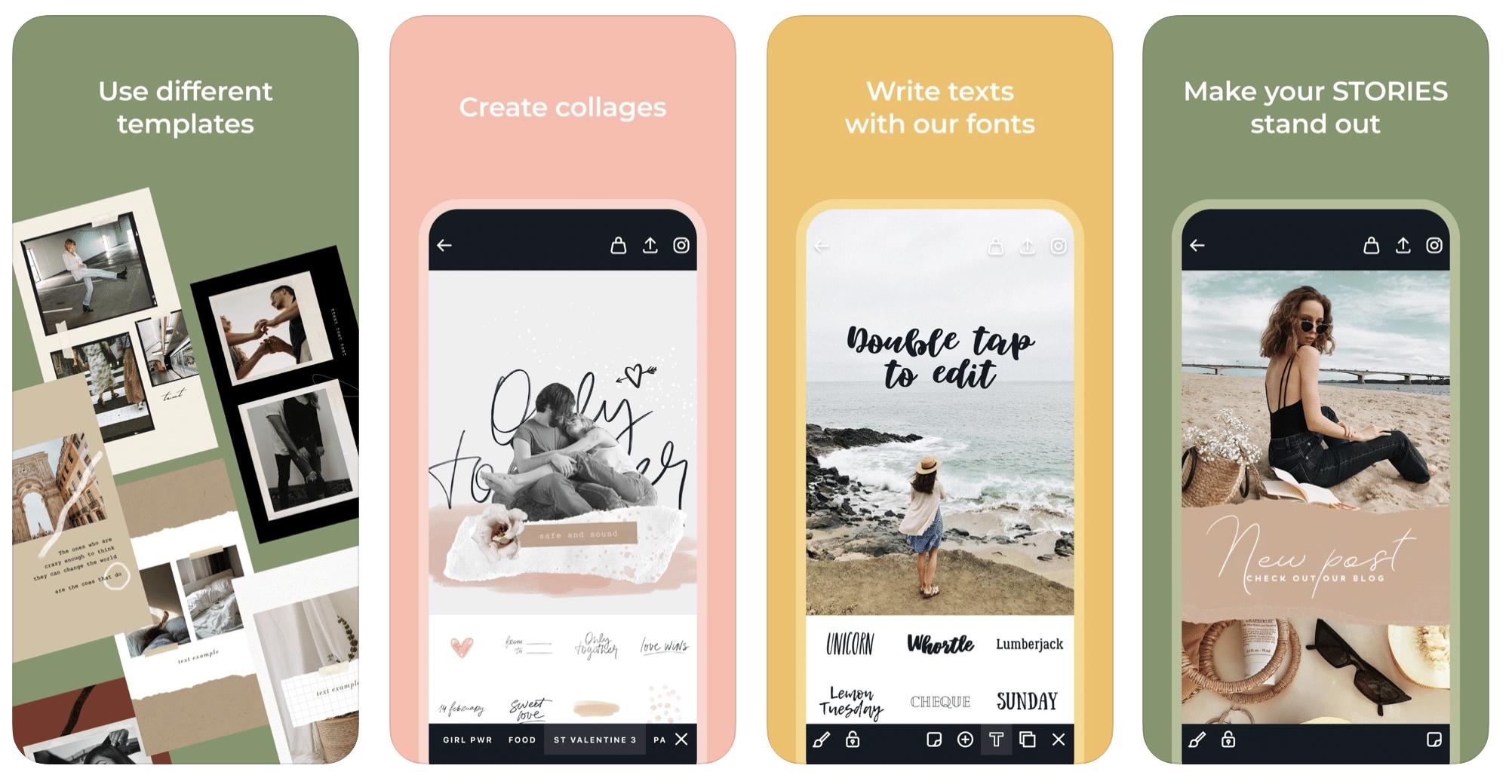 AppForType typography Instagram app