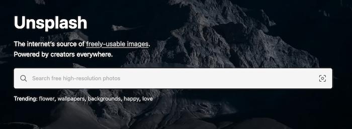 Find Image Sources - Unsplash