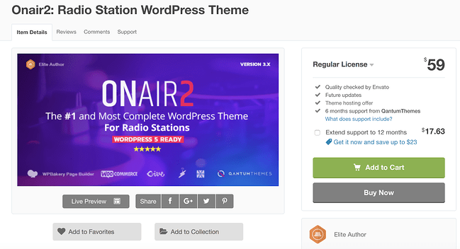on air 2 podcast wordpress theme download page