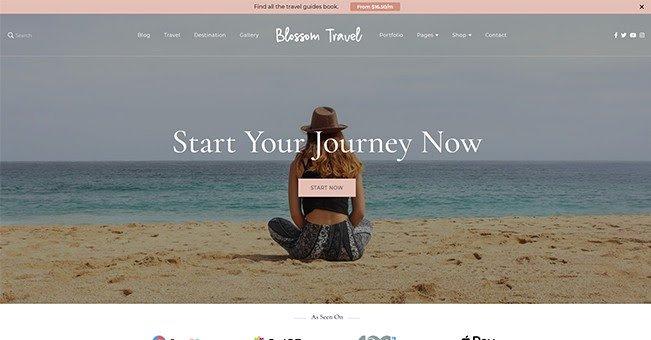 Blossom Travel free WordPress blogging theme