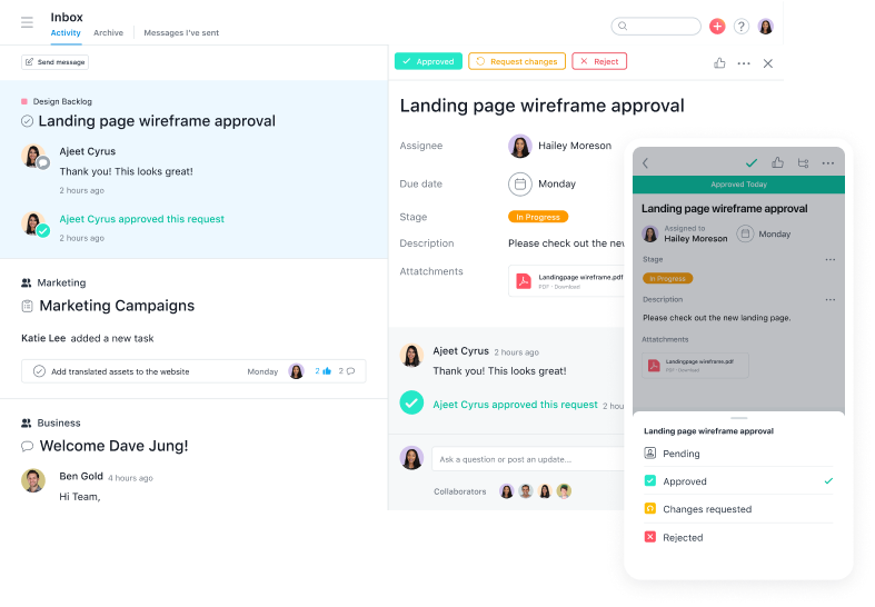 Project management software by Asana
