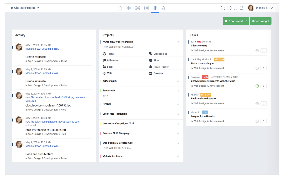 Project management software by Freedcamp