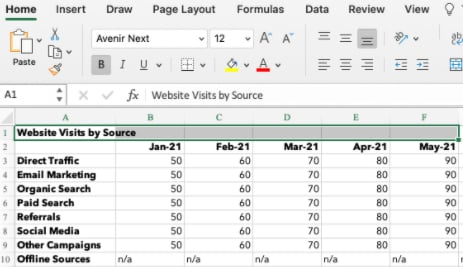 How to merge and center cells in excel