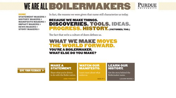 purdue landing page example