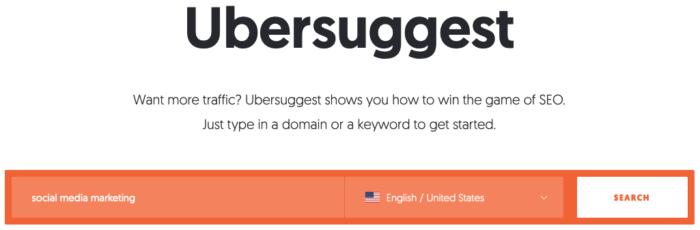 paid internet advertising tool ubersuggest