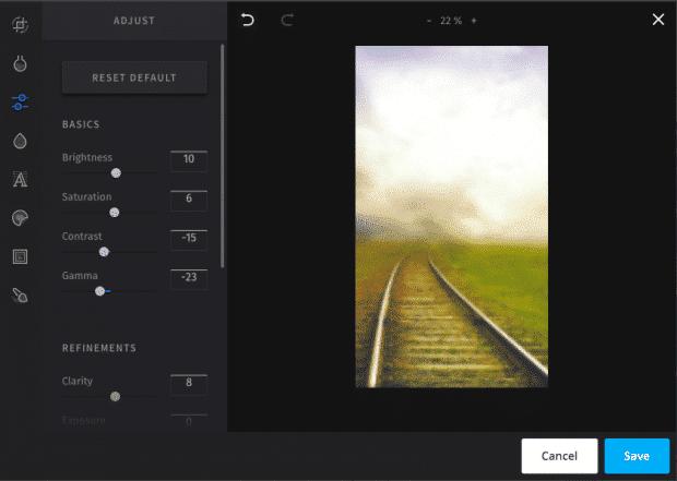 Editing tools in Hootsuite's Instagram Story scheduler