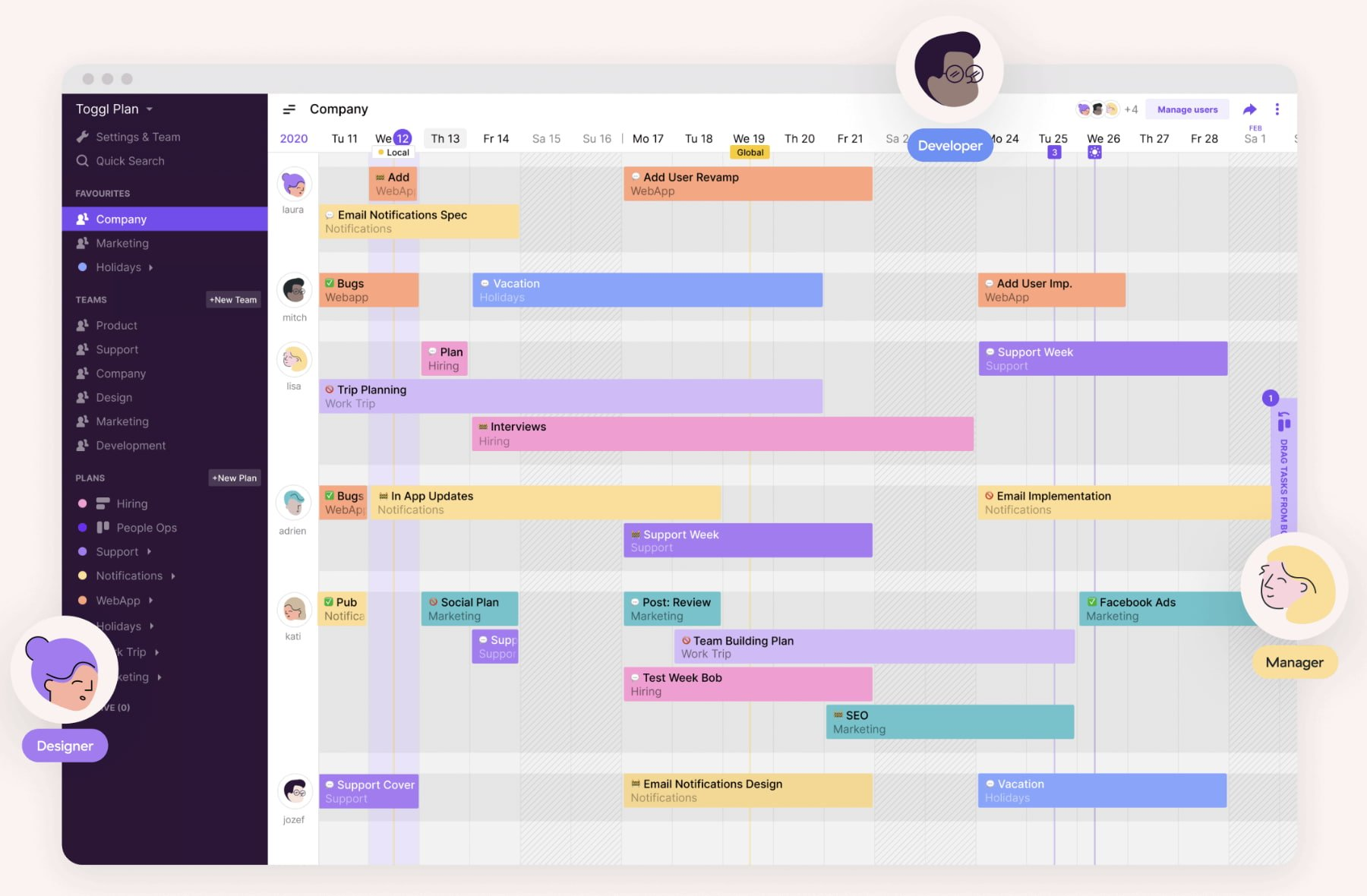 Project management software by Toggl Plan