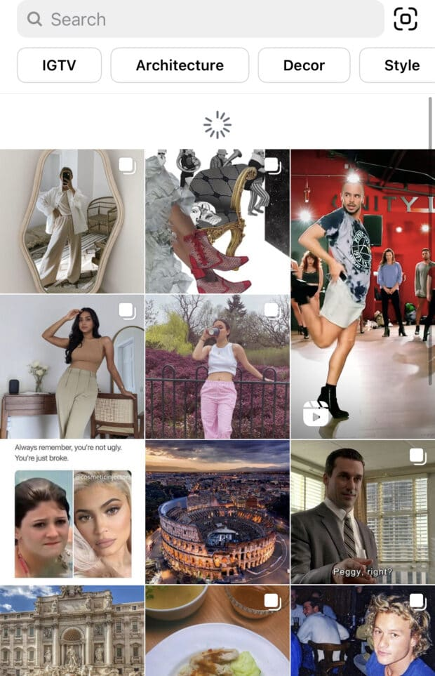 Instagram Explore Refresh