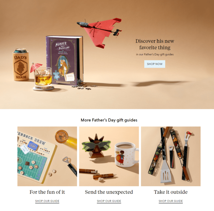 E-commerce Father's Day Sales Examples - Uncommon Goods