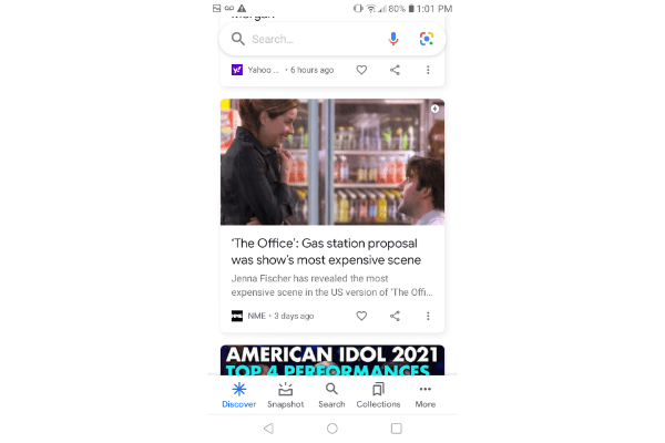 Google discovery ad example from The Office