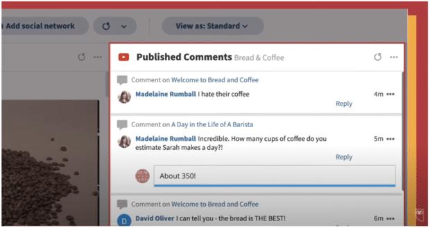 Hootsuite Streams published comments
