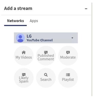 Hootsuite add a search stream