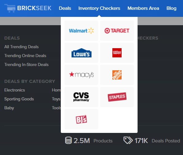 brickseek for consumers: inventory checker feature