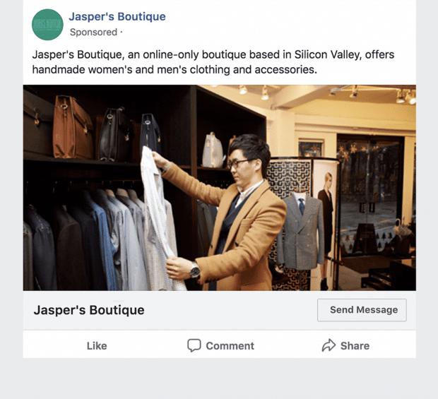 Facebook click-to-messenger ad
