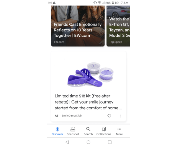 google discovery ads example