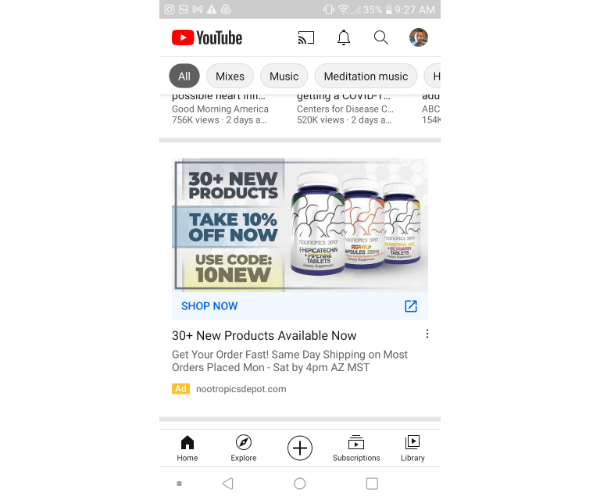 google discovery ad youtube