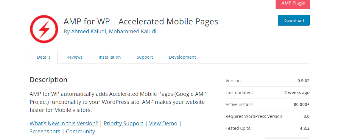 AMP For WP google pagespeed insights guide