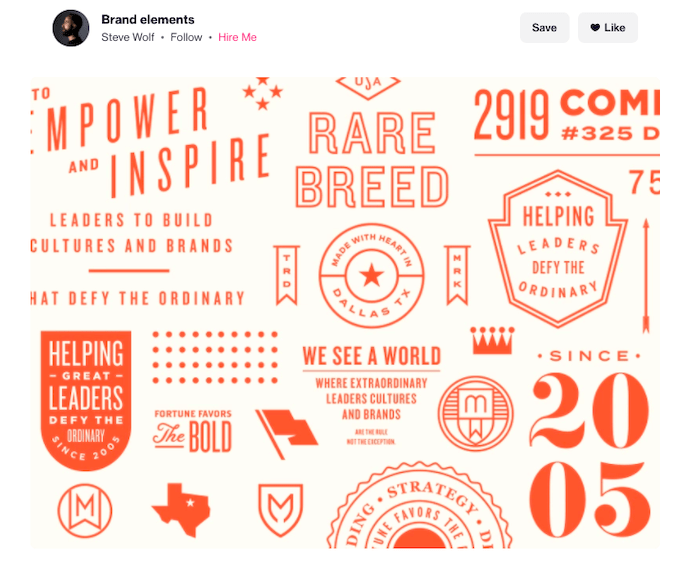 personal branding - Steve Wolf Brand Elements on Dribble
