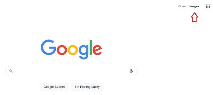 Where to find reverse image search on Google homepage